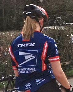 US Postal jersey on Box Hill