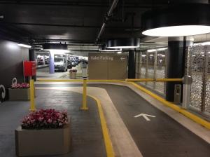 Westfield valet parking barrier