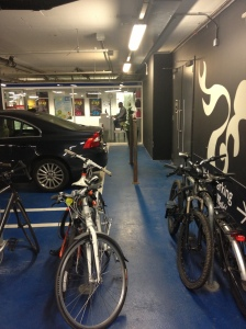 Westfield valet parking bike area office