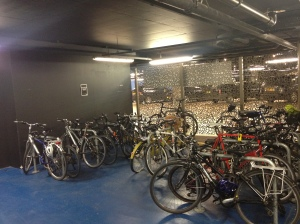 Westfield valet parking bike area