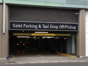 Westfield valet parking entrance