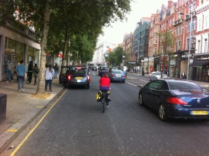 kensington high street cab ahead
