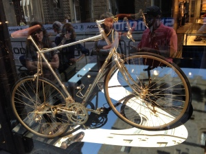 salvatore ferragamo gold bike