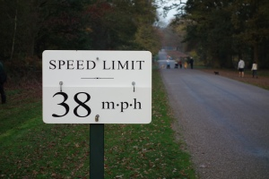 Speed limit sign in Windsor Great Park