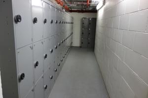 Bike parking small lockers